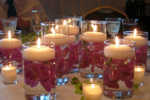 Unique Wedding Centerpiece Ideas Candles and Rustic Branches
